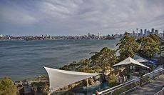 Вид на Сиднейскую гавань с территории зоопарка